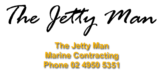 Jetty Man Marine Contractor Lake Macquarie  Logo
